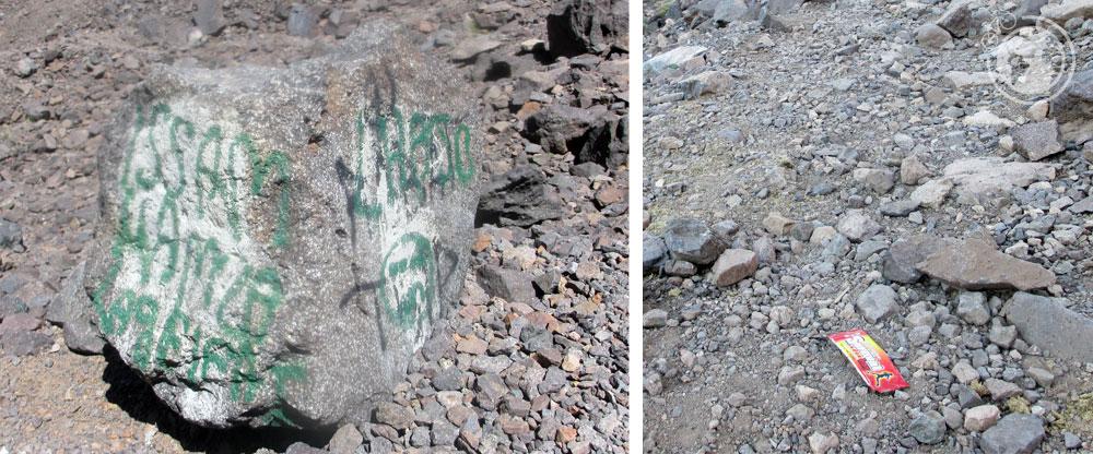 Suciedad en el monte Toubkal