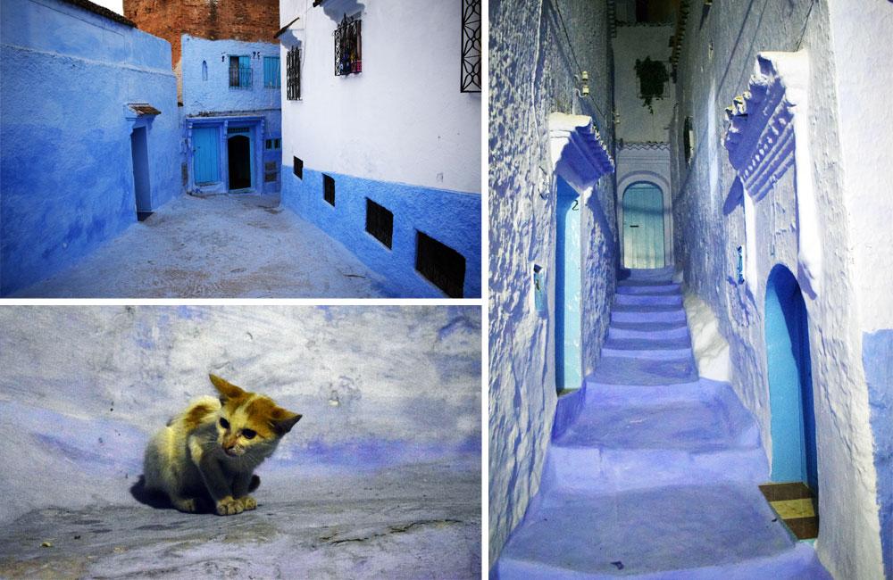 Calles de Chefchaouen, la «Ciudad Azul», Marruecos.