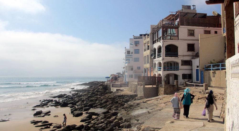Playa de Taghazout a 20 km de Agadir